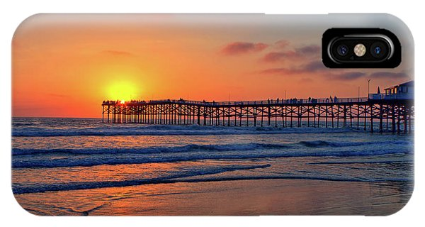 Pacific Ocean iPhone Case - Pacific Beach Pier Sunset by Peter Tellone