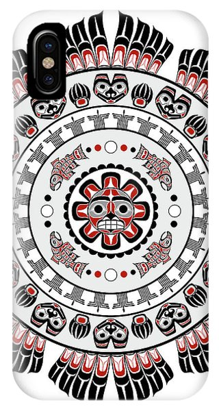 Pacific Northwest Native American Art Mandala IPhone Case