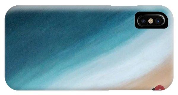 Pacific Ocean And Red Umbrella IPhone Case