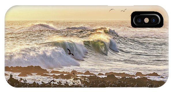 South Pacific Ocean iPhone Case - Pacific Ocean In Arica, Chile by Delphimages Photo Creations