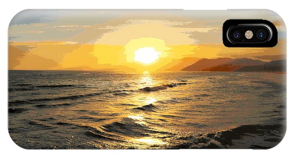 Pacific Sunset Impressionism, Santa Monica, California IPhone Case