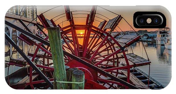 Paddle Wheel Sunrise IPhone Case