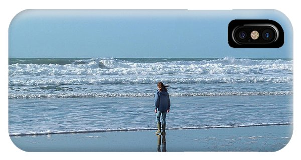 Paddling At Sandymouth Beach North Cornwall IPhone Case