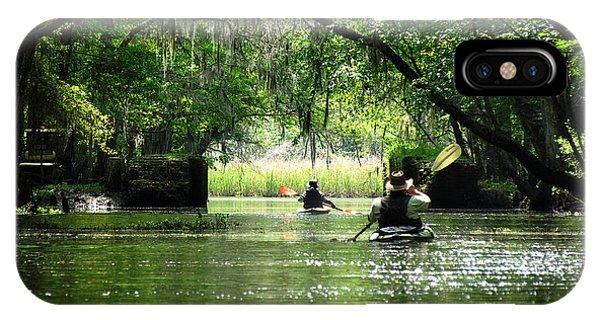 Having Fun iPhone Case - Paddling The Ogeechee Canal by Matt Richardson