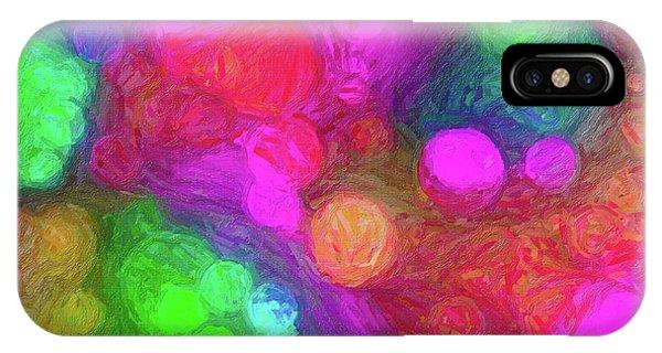 Painted Bokeh Impasto Pinkish Purple IPhone Case