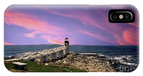 Lighthouse Wall Decor iPhone Case - Painted Marshall Sunrise by Skip Willits