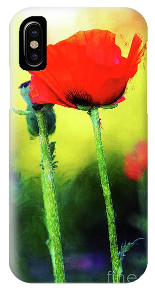 Painted Poppy Abstract IPhone Case