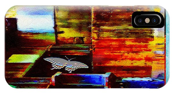 IPhone Case featuring the mixed media Painted Shadows Of A Different Love And Time by Aberjhani