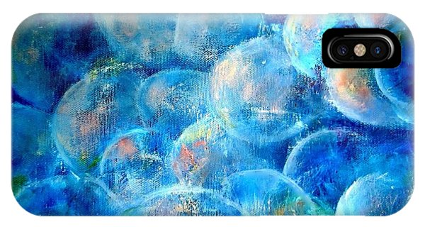 IPhone Case featuring the painting Painterly Bubbles by VIVA Anderson