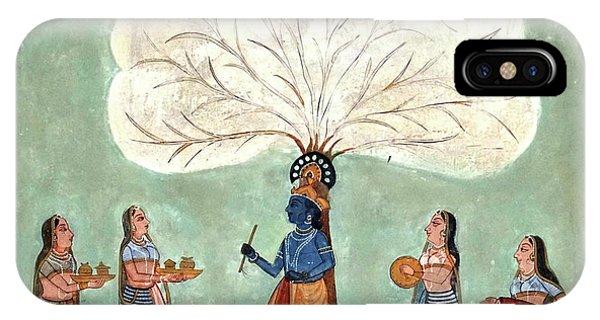 Painting Fresco Of Krishna In The Women's Zenana IPhone Case