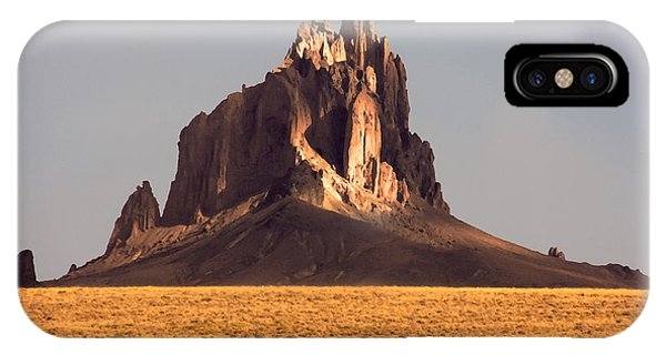 Beams iPhone Case - Painting Like Picture Of Shiprock In by Martina Roth