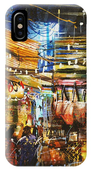 Painting Showing Variegated Colors Of Phone Case by Tithi Luadthong