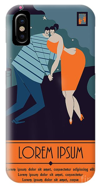 Bar iPhone Case - Pair Of Sweethearts Dancing Slow Dance by Amarante Ayo