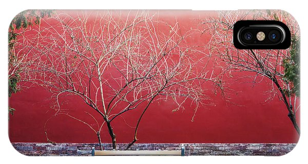 Red Sky iPhone X Case - Palace Walls,the Forbidden City In by Maoyunping