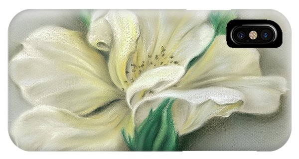 Pale Yellow Rose And Green Rosebuds IPhone Case