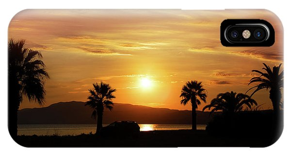 IPhone Case featuring the photograph Palm Beach In Greece by Milena Ilieva