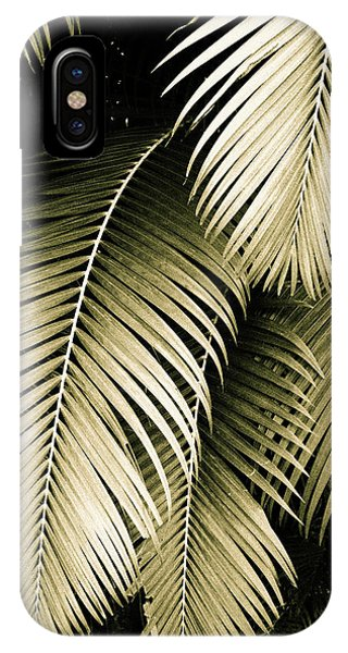 iPhone Case -  Palm Fronds In Sepia by Kathy Yates