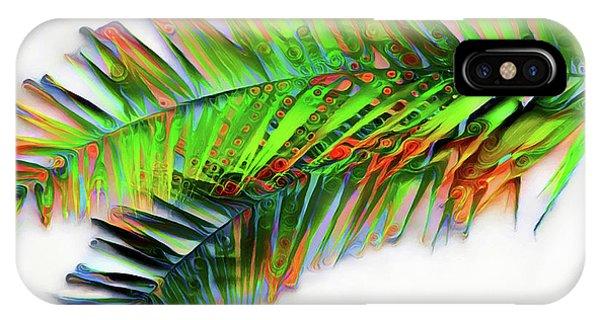 IPhone Case featuring the digital art Palm Leaf by Pennie McCracken