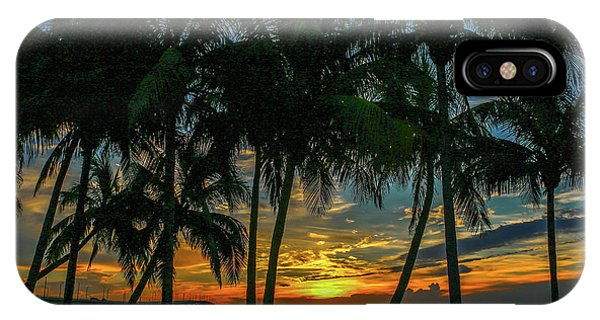 Palm Tree Lagoon Sunrise IPhone Case