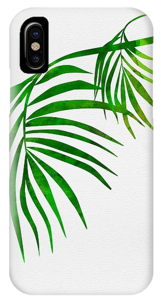 Leaf iPhone Case - Palm Tree Leafs by Naxart Studio