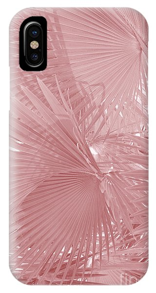 iPhone Case - Palmetto Leaves In Pink by Carol Groenen