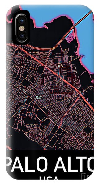 Palo Alto City Map IPhone Case