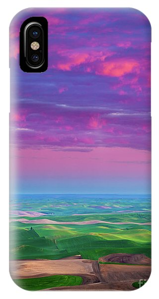 Rural America iPhone Case - Palouse Fiery Dawn by Inge Johnsson