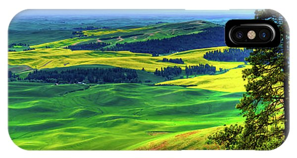 iPhone Case - Palouse Hills Canola And Wheat by David Patterson