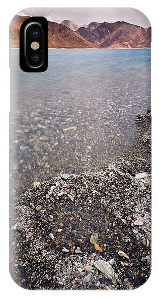 IPhone Case featuring the photograph Pangong Tso by Whitney Goodey