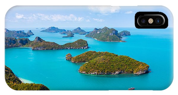 Clear iPhone Case - Panorama Ang Thong National Marine Park by Kalamurzing
