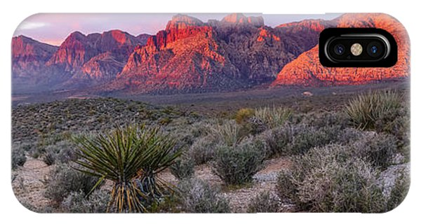 Panorama Of Rainbow Wilderness Red Rock Canyon - Las Vegas Nevada IPhone Case