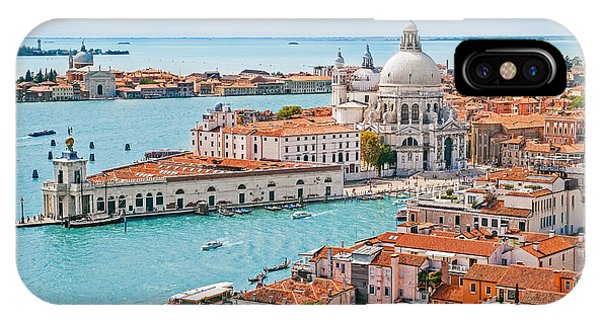 Dome iPhone Case - Panoramic Aerial Cityscape Of Venice by Mariia Golovianko