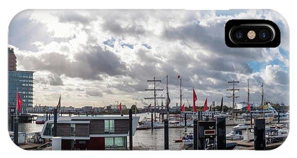 Panoramic View Of Hamburg IPhone Case
