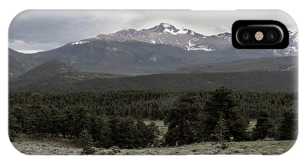 panoramic view of Rocky Mountains IPhone Case
