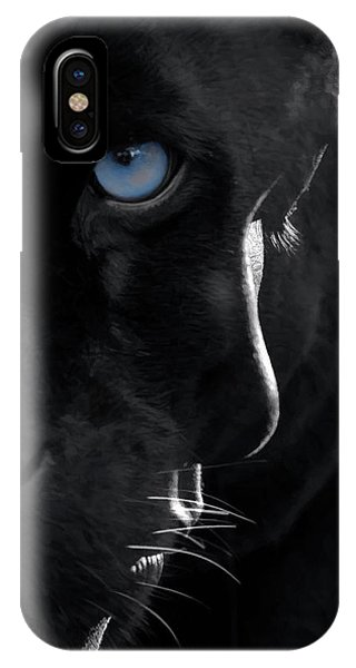 IPhone Case featuring the digital art Pantheress by ISAW Company