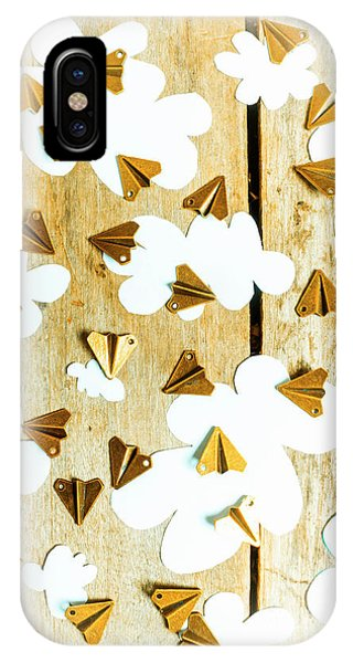 Flight iPhone Case - Paper Clouds And Metal Planes by Jorgo Photography - Wall Art Gallery