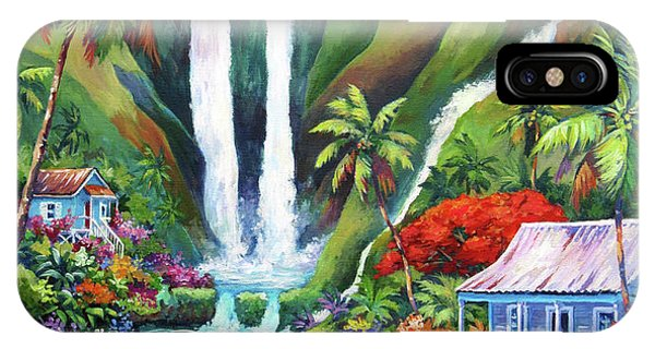 Colombian iPhone Case - Paradise Falls by John Clark
