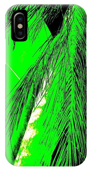 IPhone Case featuring the photograph Paradise Palms Green by VIVA Anderson