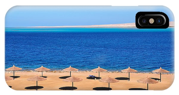 Parasol iPhone Case - Parasols At Red Sea,hurghada by Mu Yee Ting