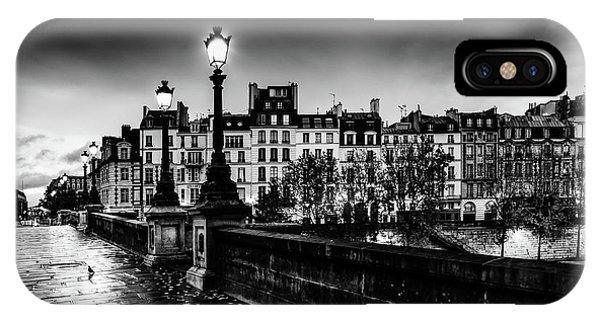 Paris At Night - Pont Neuf IPhone Case