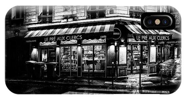 Paris At Night - Rue Bonaparte IPhone Case