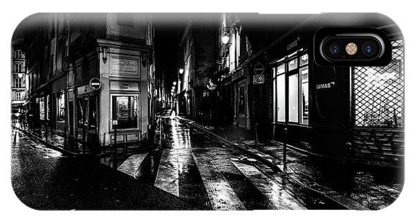 Paris At Night - Rue De Seine IPhone Case