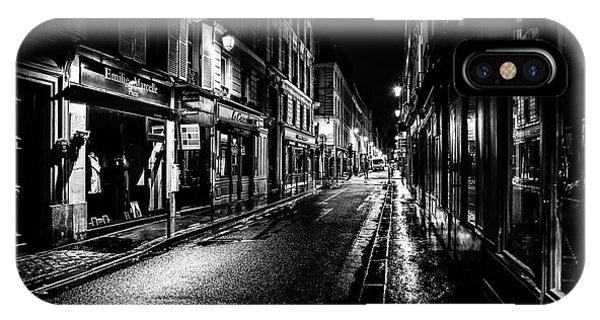 Paris At Night - Rue De Vernueuil IPhone Case