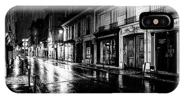 Paris At Night - Rue Saints Peres IPhone Case
