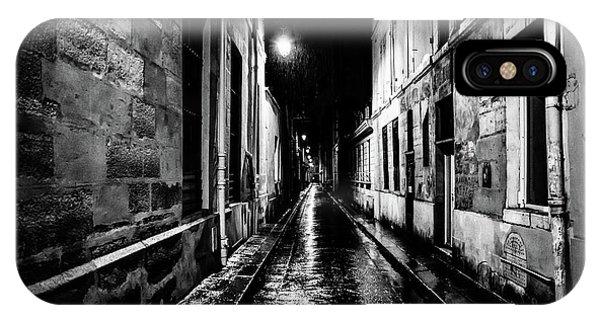 Paris At Night - Rue Visconti IPhone Case