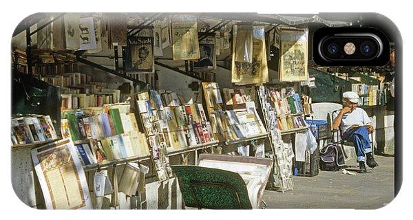Paris Bookseller IPhone Case