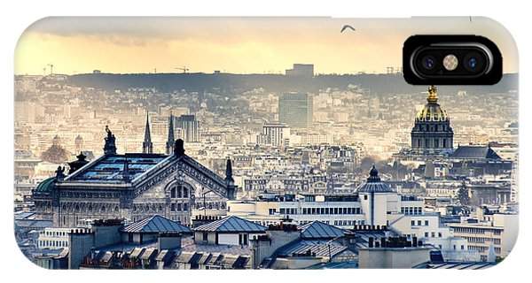 French Landscape iPhone Case - Paris Cityscape Taken From Montmartre by Im photo