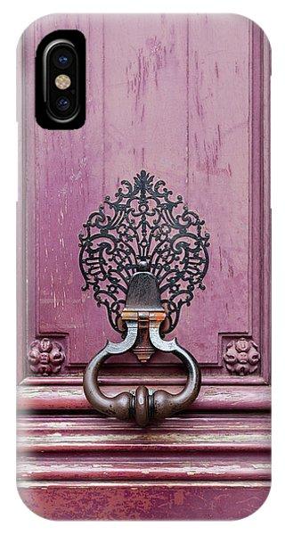 IPhone Case featuring the photograph Paris Door Knocker II by Melanie Alexandra Price