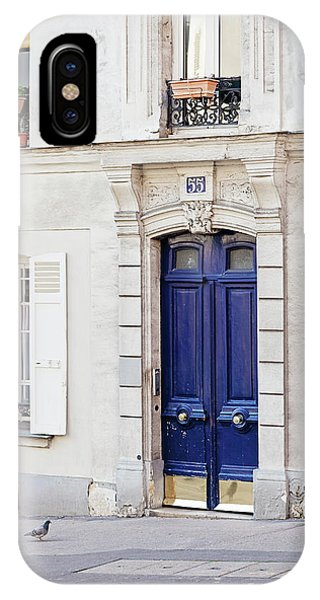 IPhone Case featuring the photograph Paris Doors No. 55 by Melanie Alexandra Price