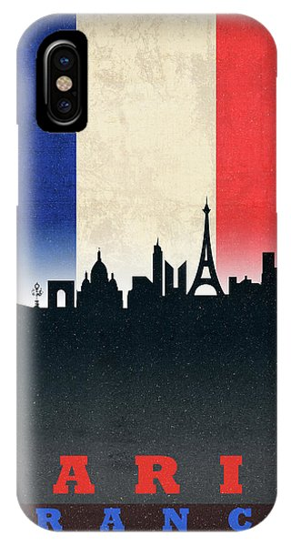 French iPhone Case - Paris France City Skyline Flag by Design Turnpike